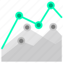 chart, diagram, line graph, statistics icon