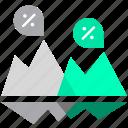 analytics, backlog, business, floating, hidden problems, iceberg icon