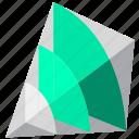 analytics, business, investment, pyramid icon