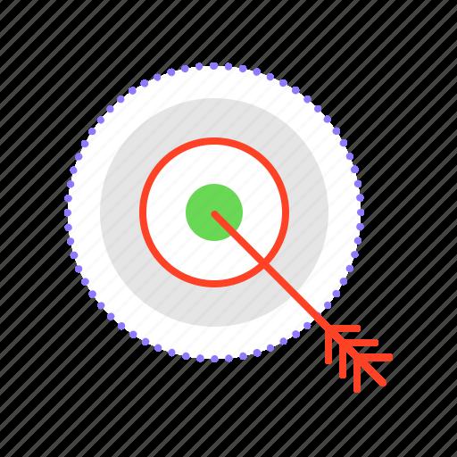 client, customer, define, goals, target icon