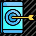 arrow, dart, device, mobile, phone, smartphone, telephone