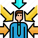 arrow, avatar, business, businessman, direction, income, ocportunity