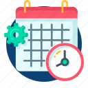 calander, clock, manage, setting, date, event