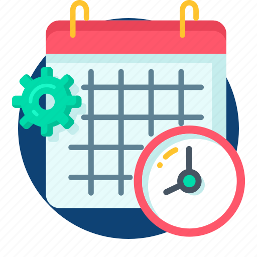 calander, clock, date, event, manage, setting icon
