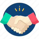 business, hand, handshake, meeting, partnership icon