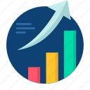 arow, business, graph, grow, growth, presentation icon