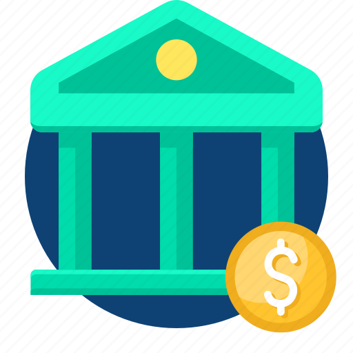 bank, coin, dollar, money, pay, payment icon
