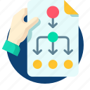 blueprint, business, plan, planing, schedule icon