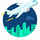 airplane, building, business, travel, travling icon