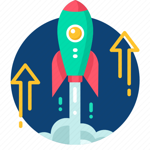 arrow, boost, business, launch, stratup icon