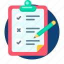 board, business, checklist, list, paper, servey icon