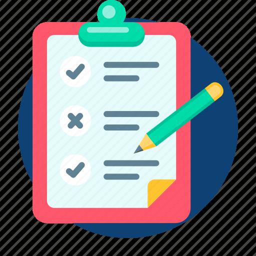 board, business, checklist, list, paper, servey icon