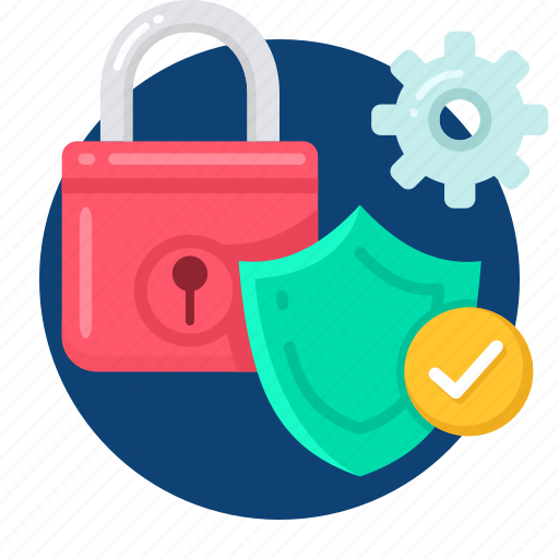 business, safe, secure, security, setting icon