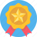 award, badge, first, medal, prize, ribbon, winner icon