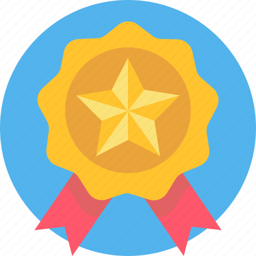 Prize, winner, award, medal, ribbon, first, badge icon