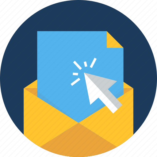click, cursor, email, envelope, mail, open, web icon
