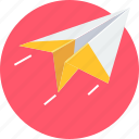 airplane, launch, paper, plane, post, send icon
