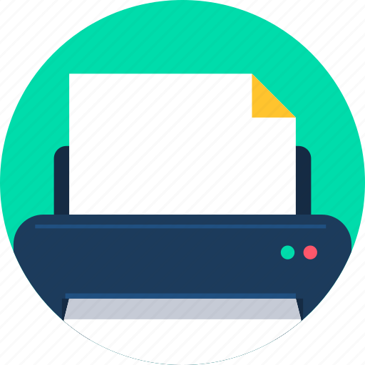 device, document, page, paper, print, printer, printing icon