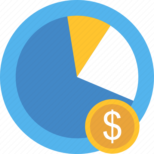 bar, chart, dollar, graph, money, pie, revenue icon