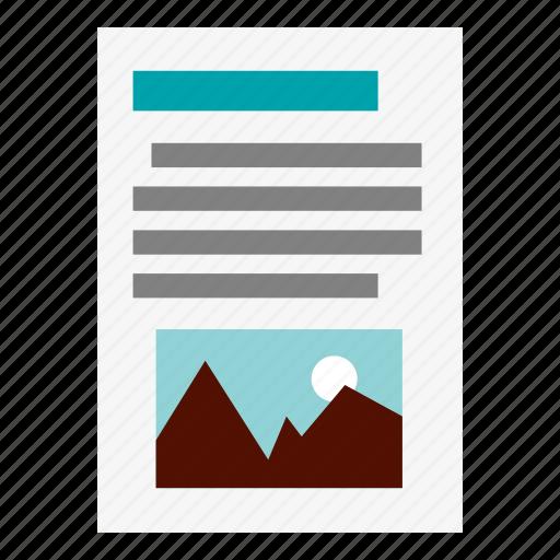 data, magazine, newspaper, paper3, text icon