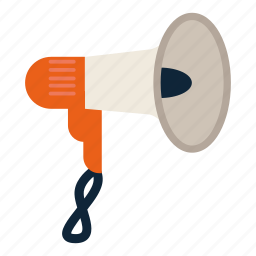 communication, horn, mouthpiece, speaking trumpet icon