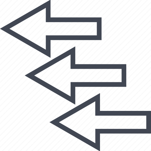 arrows, business, left, plan, point icon