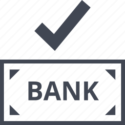 bank, banking, check, good, mark, note, ok icon