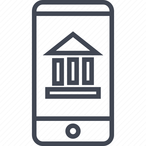 bank, banking, cell, mobile, money, note, phone icon