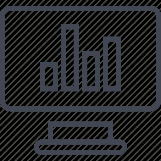 bars, computer, data, graph, online, report, screen icon
