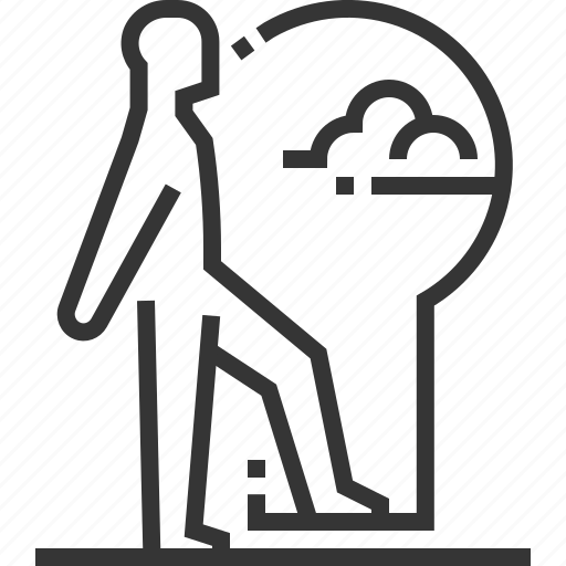 businessman, idea, key hole, key person, problem solver, solution icon