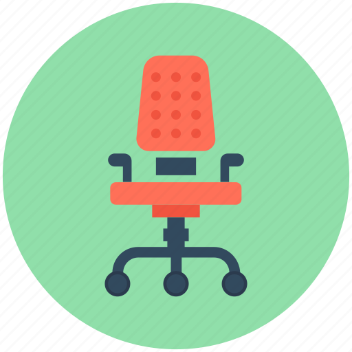 chair, furniture, office chair, revolving chair, swivel chair icon
