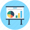 business presentation, chalkboard, easel, graph presentation, presentation board