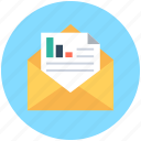 business report, business stats, official document, official letter, stock report icon