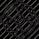 business, crosshair, finance icon