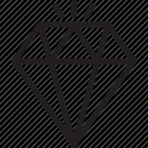 business, diamond, finance icon