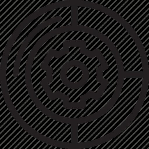 business, chart, finance, pie icon