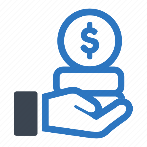 business, coin, finance, giving, money icon