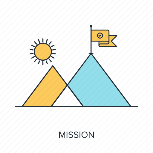 Flag, goal, mission, mountain, success, target, achievement icon - Download on Iconfinder