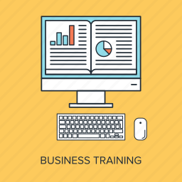 business, computer, digital, education, knowledge, learning, training icon