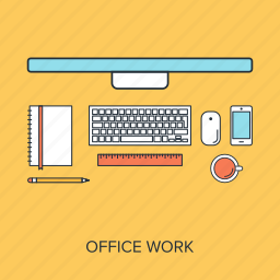 business, corporate, desk, job, office, table, work icon