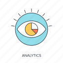 analysis, analytics, data, eye, see, view, vision icon