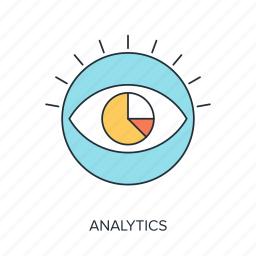 analysis, analytics, data, eye, see, view, vision icon