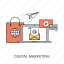 advertising, commerce, digital, electronic, internet, marketing, promotion icon