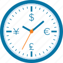 clock, finance, investment, management, money, profit, time icon