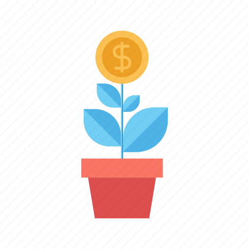 Dollar, expand, flower, growth, investment, nature, plant icon - Download on Iconfinder