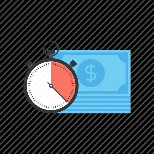 Clock, management, money, schedule, stopwatch, time, watch icon - Download on Iconfinder