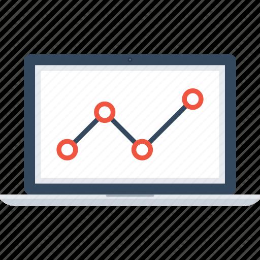 Analytics, chart, computer, graph, laptop, monitoring, statistics icon - Download on Iconfinder