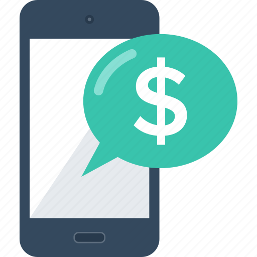 banking, marketing, message, mobile, money, payment, transaction icon
