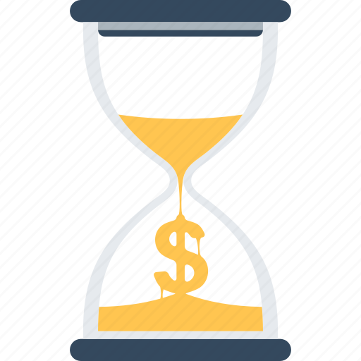 Clock, hourglass, management, money, sandglass, time, timer icon - Download on Iconfinder