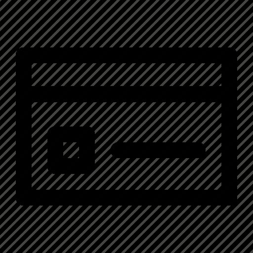 business, cc, credit card, debit card, finance, outline icon